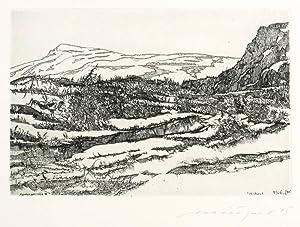 """Münzner, Rolf. - """"Hardangervidda III / Norwegen""""."""