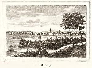 """Terpitz (Liebschützberg). - Gesamtansicht. - Kirchen-Galerie. - """"Terpitz""""."""