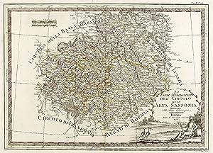 Sachsen. - Obersachsen. - Landkarte. - Cassini.: Giovanni Maria Cassini