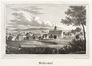 "Seifersdorf (Dippoldiswalde). - Gesamtansicht. - Kirchen-Galerie. - ""Seifersdorf""."