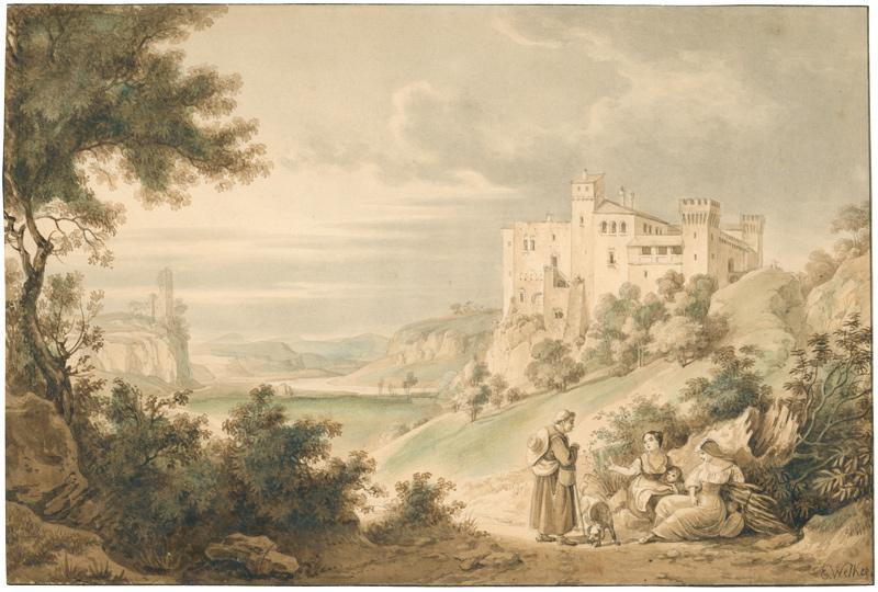 Rom, Castello di Torcrescenza.: Welker, Ernst (1788