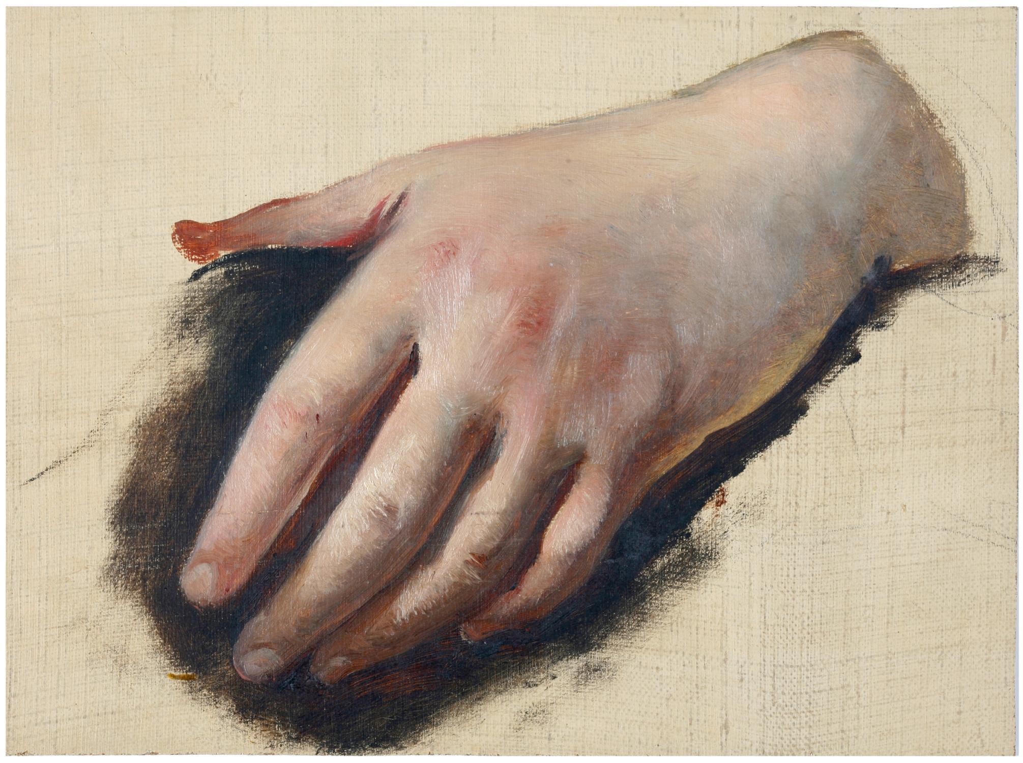 Studie einer Frauenhand.: Wessinger, Robert (1825