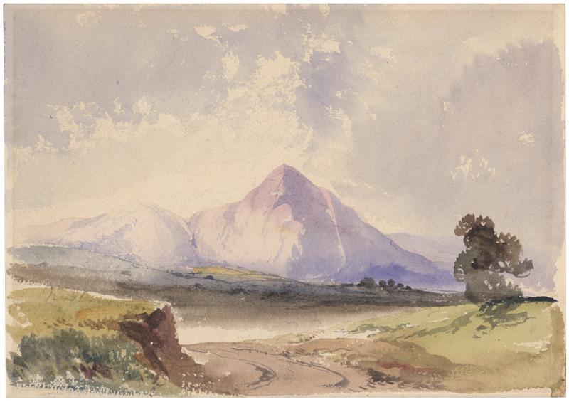 Blick auf den Monte Cavo bei Nizza.: Bamberger, Fritz (1814