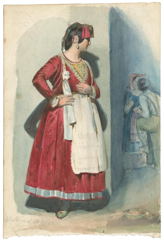 Junge Frau aus Nettuno, die ein Liebespaar: Wessinger, Robert -