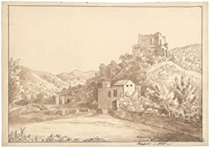 Landschaft bei Neapel.: Bosse, Ernst Gotthilf