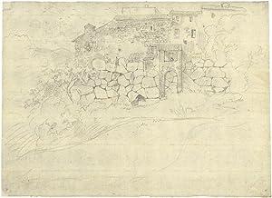 Die Zyklopenmauer in Palästrina.: Richter, Ludwig (1803
