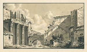 Rom, Blick auf das Augustusforum mit der: Andreae, August Heinrich