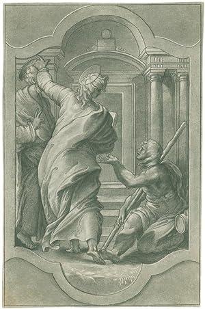 Hll. Petrus und Johannes heilen an der: Buonaccorsi, Pietro -