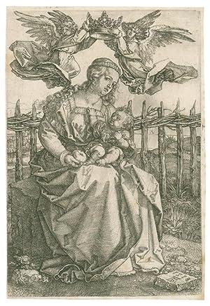 Die Jungfrau von zwei Engeln gekrönt.: Dürer, Albrecht (1471