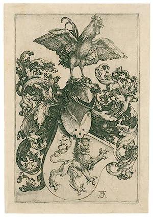 Das Löwenwappen mit dem Hahn.: Dürer, Albrecht (1471