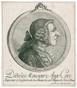 Portrait-Medaillon eines Herrn mit Zopfperücke. Büste im: Oesterreich, Matthias (1716