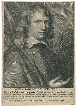Brustbild nach rechts, mit der Rechten deutend.: Diepenbeeck, Abraham van