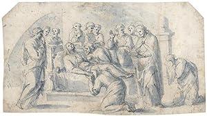 Der Tod der Jungfrau Maria mit dem: Pugliani, Domenico 1589
