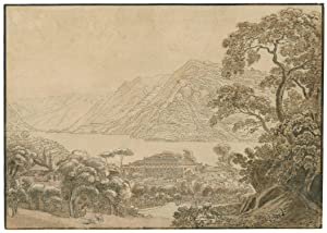 Ansicht vom Comer See, Blick über den: Wetzel, Johann Jakob