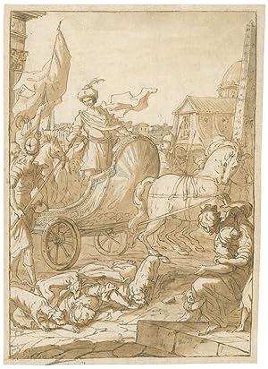 Jehu, Heerführer der Israeliten, triumphiert über die: Piattoli, Giuseppe -