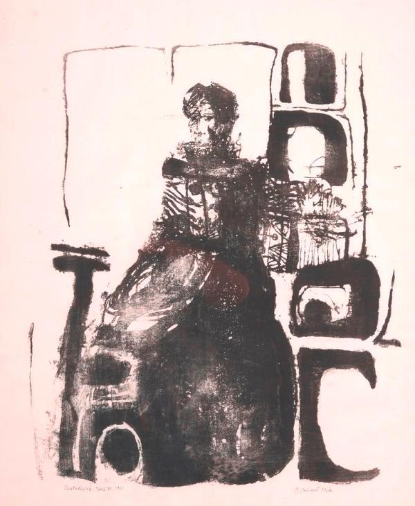 """Sitzende"", 1966.: Hoke, Giselbert."