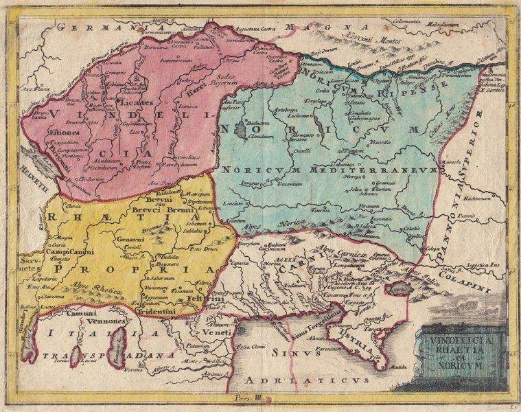 """Vindelicia, Rhaetia et Noricum"".: (Weigel, Christoph)"