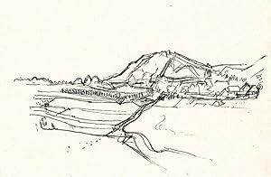 "Landschaft am Zollfeld II (St. Donat)"", 1927.: Boeckl, Herbert."