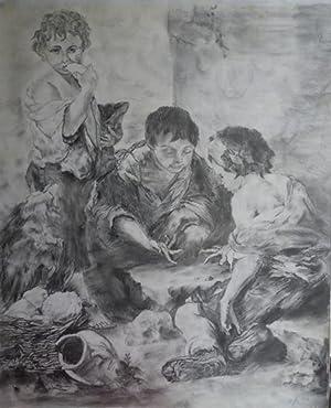"""Bettelknaben beim Würfelspiel"""", 1912.: Faistauer Anton, zugeschrieben)"""