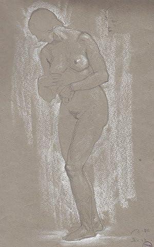 """Aktstudien"""" / """"Stehender Frauenakt"""", 1923 / 1925.: Fasal, Anton Sebald."""