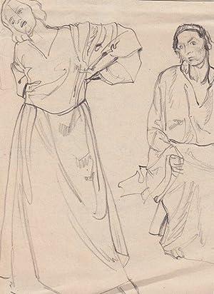 """Zwei Frauen"""" / """"Stehende Frauenfigur"""", 1925.: Fasal, Anton Sebald."""