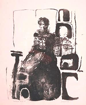 "Sitzende"", 1966.: Hoke, Giselbert."