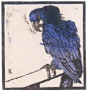 "Blauer Ara"", 1909.: Jungnickel, Ludwig Heinrich."