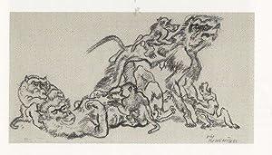 "Pavianfamilie"".: Jungnickel, Ludwig Heinrich."