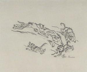 """Sich jagende Paviane"""".: Jungnickel, Ludwig Heinrich."""