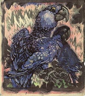 "Zwei blaue Aras"", 1914.: Jungnickel, Ludwig Heinrich."