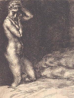 """Kniender Frauenakt"""", um 1935.: Sterrer, Karl."""