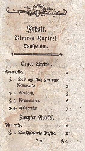 Geschichte der Amerikaner, Kapitel 4-7: Neu- u. Altmexiko; Nordamerikanische Inseln,, Neufundland, ...