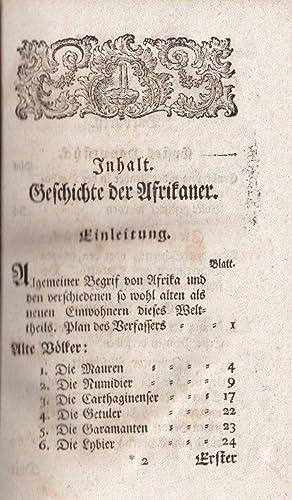 Geschichte der Afrikaner). 4 Bde.: Richer, Adrien).