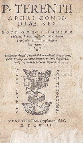 P. Terentii Aphri Comoediae sex.: Terentius.