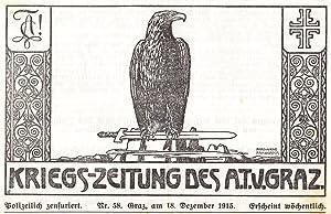 Kriegs-Zeitung des A. T. V. Graz. 20 Nummern aus der Reihe.