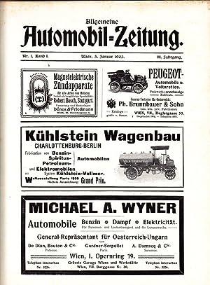 Allgemeine Automobil-Zeitung. Offizielle Mitteilungen des Oesterreichischen Automobil-Club. ...