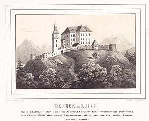 """Roseck im J. 1688"""" (Rosegg bei Velden)."""