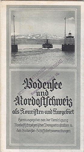 Bodensee und Nordostschweiz als Touristen- und Kurgebiet.