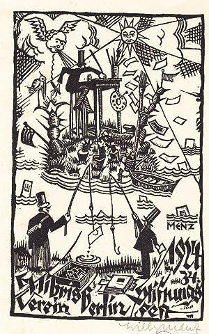 Exlibris Verein Berlin / 1924 / 34.: Menz, Willy.