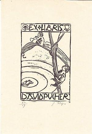 Ex libris David Pucher.: Lobisser, Switbert (Tiffen 1878 - 1943 Klagenfurt)