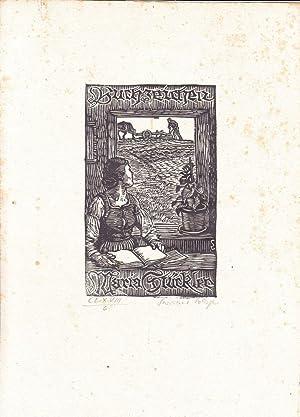 Buchzeichen Maria Stückler.: Lobisser, Switbert (Tiffen 1878 – 1943 Klagenfurt)