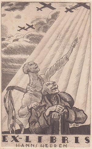 """Ex-Libris Hanns Heeren"""".: Gilsi, Fritz."""