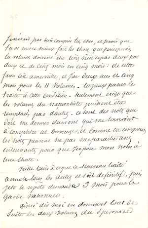 Lettre autographe signée (1845) / Alexandre Bixio/: Alexandre Dumas (père)