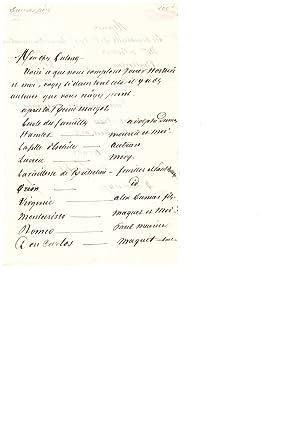 Lettre autographe signée (1847) / Alfred de: Alexandre Dumas (père)