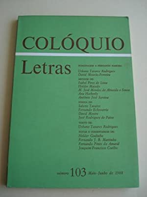 COLÓQUIO LETRAS. Número 103. Maio-Junho de 1988.: Varios autores Ilustrada