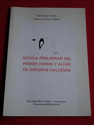 Noticia preliminar del primer horno y alfar: Díaz Álvarez, Pedro;