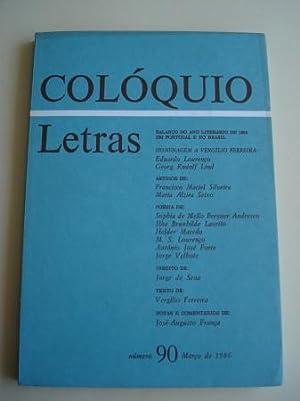 COLÓQUIO LETRAS. Número 90. Março de 1986.: Varios autores