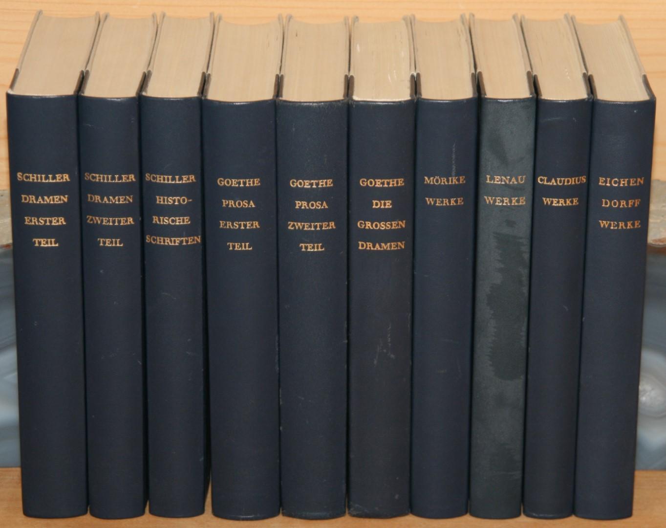10 Bände Klassiker Bibliothek der Welt. Goethe,: Goethe, Johann Wolfgang