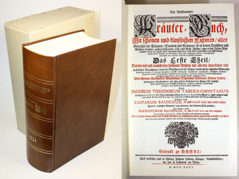 Neu Vollkommen Kräuter-Buch, Mit schönen und künstlichen: Tabernaemontanus, Jacobus Theodorus
