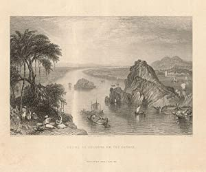 Scene at Colgong on the Ganges.: Indien -